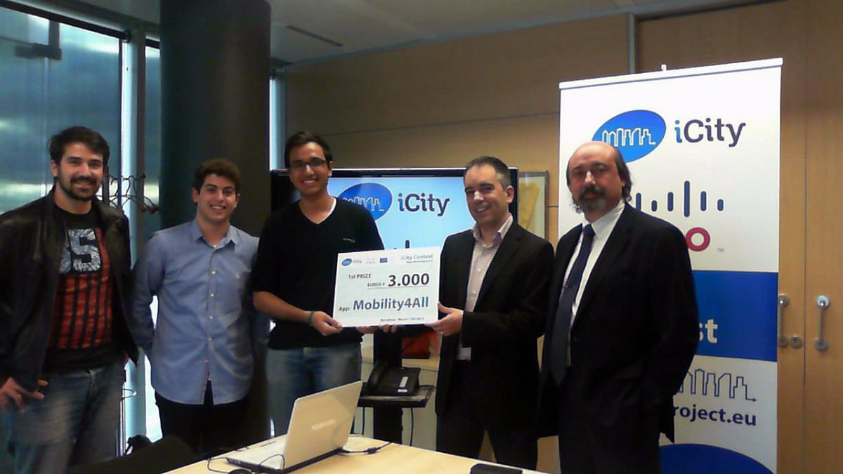 Mobility4all, winners of the iCity Contest application development